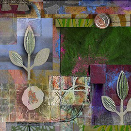 illustration of Acrylic, Collage, Mixed Media, Texture, Concept Art, Botanical, Editorial, Nature