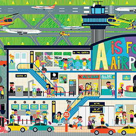 illustration of Design, Vector, Children, Children's Books, Children's Products, Education, Transportation, Travel, Lifestyle, Urban