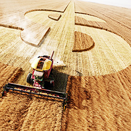 illustration of Conceptual, Digital, CGI, Editorial, Icons, Agriculture, Financial