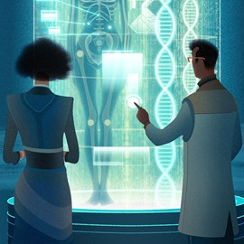 illustration of Conceptual, Digital, Whimsical, Science, Technology
