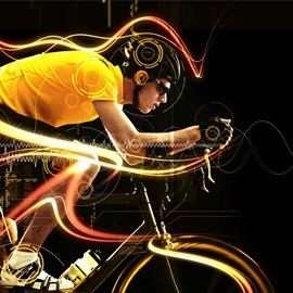 illustration of Digital, Photoillustration, Special Effects, CGI, Action, People, Scientific, Sports, Technology, Masculine
