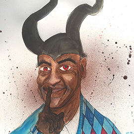 illustration of bill cosby as maleficent