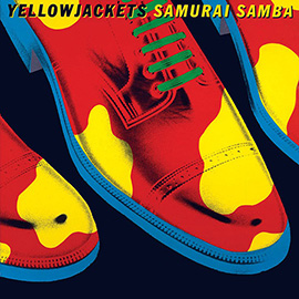 illustration of Collage Shoes Colour Punchy Yellow Jackets Samurai Samba Cow Leather