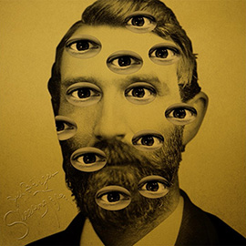 illustration of Collage Face Sleeping Tapes Album Cover Music Audio Book Eyes