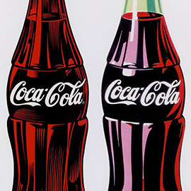 illustration of Vintage Americana Classic Bottle Cool Refreshing Drink Two Pair Traditional