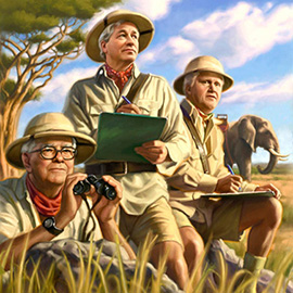 illustration of cover art for 'Directorship' Magazine.