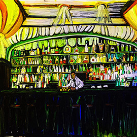 illustration of #gothambarandgrill