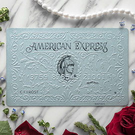 illustration of Front design for American Express card